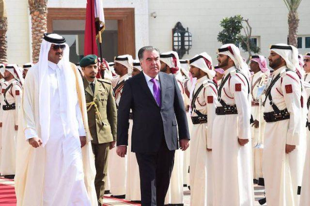 لقاءات و إجتماعات قطرى طاجيكستانى على أعلى مستوى