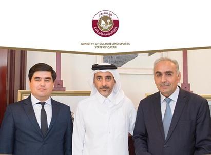 وزير الثقافة والرياضة يجتمع مع نظيره الطاجيكي