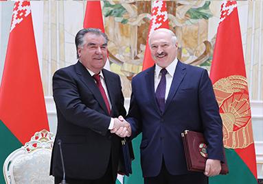 مراسم توقيع وثائق تعاون جديدة بين جمهورية طاجيكستان وجمهورية بيلاروسيا