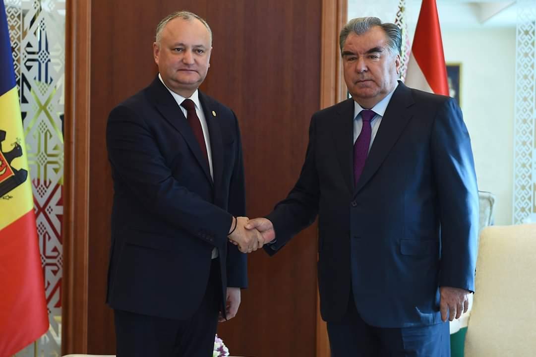 Мулоқот бо Президенти Ҷумҳурии Молдова Игор Додон