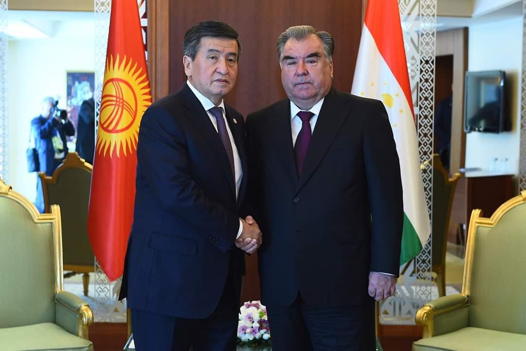 Мулоқот бо Президенти Ҷумҳурии Қирғизистон Сооронбой Жээнбеков